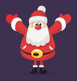 funny cartoon santa claus character vector image