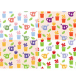 Gardening background seamless pattern vector image vector image