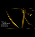 Gold ribbon wave on a black background layout