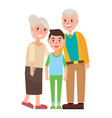 grandparents with grandson isolated characters vector image vector image