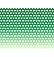 green gradient heart shape pattern vector image vector image