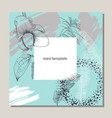 greenery greeting invitation card template design vector image