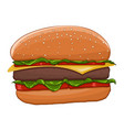 hamburger colored drawing vector image