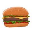 hamburger colored drawing vector image