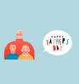 happy fathers day banner dad with children vector image vector image