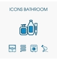 Icons bathroom set vector image vector image