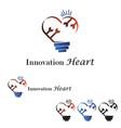 Innovation heart logo vector image