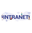intranet internet network concept with big word vector image vector image