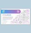 it course banner business card template software