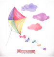 kite watercolor vector image vector image