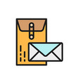 large and small envelopes post business letters vector image vector image