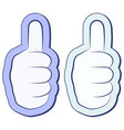like sticker fist thumb up thumb up symbol vector image vector image
