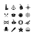 marine sea nautical pirate maritime vector image vector image