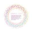 Modern particle ring design element vector image vector image