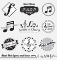 Music Note Labels and Icons vector image vector image