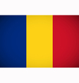 national flag romania vector image vector image