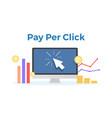 pay per click flat concept vector image vector image