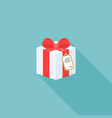 present box icon with tag vector image vector image