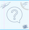 question mark in circle line sketch icon isolated vector image vector image