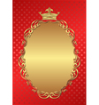 red background with royal frame