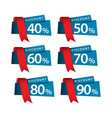 ribbon sale template design vector image vector image