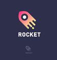 rocket science logo emblem logistic delivery vector image vector image