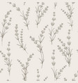 seamless pattern of lavender flowers vector image vector image