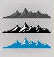 set black and white mountain silhouettes vector image vector image