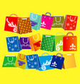 set of shopping bag collection for e-commerce vector image vector image