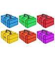Six colorful boxes vector image vector image