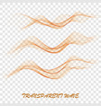 smooth clear beautiful waves set wave abstract vector image vector image