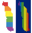spectrum pixel dotted togo map vector image