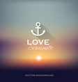summer sunset blurry background vector image