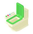 toilet equipment icon isometric style vector image vector image