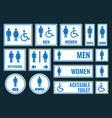 toilet icons and restroom signs vector image vector image