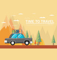 travel lifestyle concept of planning summer vector image vector image