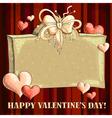 Valentines hearts vector image