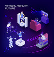 virtual reality future isometric background vector image