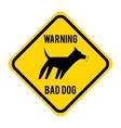 warnin bad dog isolated icon design vector image