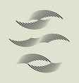wavy linear shapes for logo designweb prints vector image