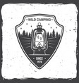 wild camping concept for vector image vector image