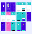 wireframe ui kit for login and sign up vector image vector image