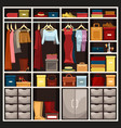 woman wardrobe with skirt and shoes hat vector image