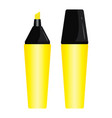 yellow pen highlighter design set isolated on vector image vector image