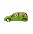 young woman in a car - cartoon people character vector image vector image