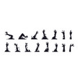 zombie hand silhouettes black creepy monster arms vector image