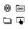 web browsing simple related icons vector image