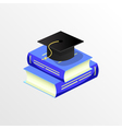 education academic graduation cap and book vector image