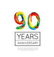 90th anniversary congratulation for company or vector image vector image