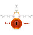 a glossy padlock with chains vector image vector image